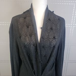 Anthropologie Knitted & Knotted Gray Cardigan